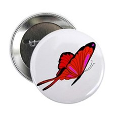 "Red Flutters 2.25"" Button"