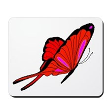 Red Flutters Mousepad