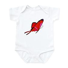 Red Flutters Infant Bodysuit