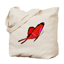 Red Flutters Tote Bag