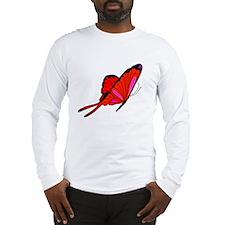 Red Flutters Long Sleeve T-Shirt