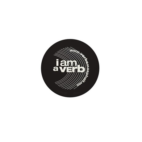 I am a verb Mini Button
