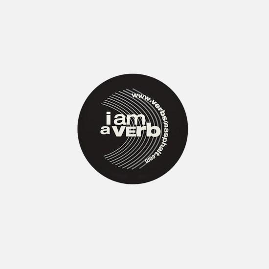 I am a verb Mini Button