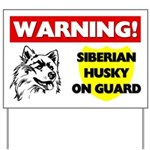 Siberian Husky Yard Sign