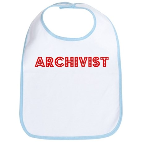 Retro Archivist (Red) Bib