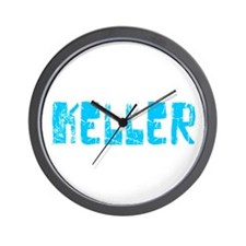 Keller Faded (Blue) Wall Clock