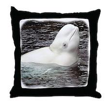 Beluga Head Throw Pillow