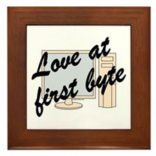 Love At First Byte Framed Tile