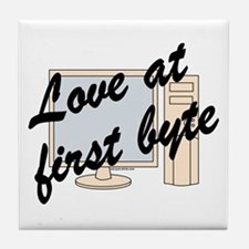 Love At First Byte Tile Coaster