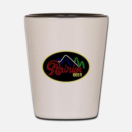 Rainier Beer neon sign 3 Shot Glass
