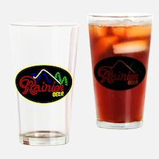 Rainier Beer neon sign 3 Drinking Glass
