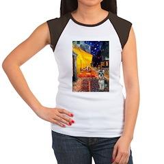 Cafe / Schnauzer (#8) Women's Cap Sleeve T-Shirt