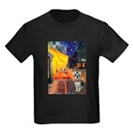 Cafe / Schnauzer (#8) Kids Dark T-Shirt