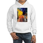 Cafe / Schnauzer (#8) Hooded Sweatshirt
