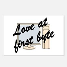 Love At First Byte Postcards (Package of 8)