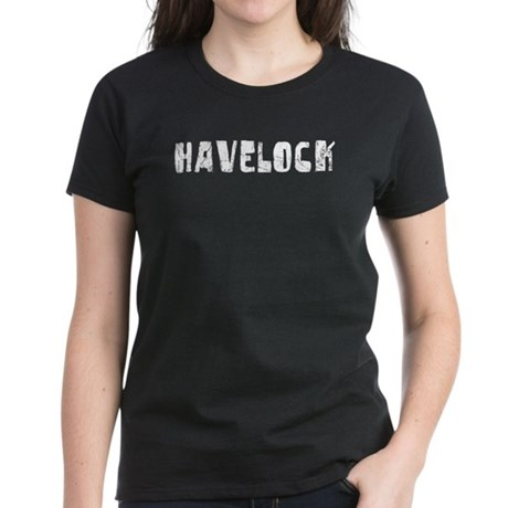Havelock Faded (Silver) Women's Dark T-Shirt