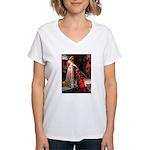 Accolade / Schnauzer (#8) Women's V-Neck T-Shirt