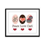Peace Love Curl Curling Framed Panel Print