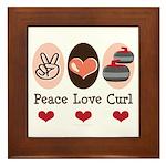 Peace Love Curl Curling Framed Tile