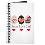 Peace Love Curl Curling Journal