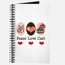 Peace Love Curl Curling Journal