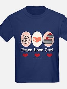 Peace Love Curl Curling T