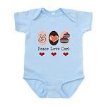 Peace Love Curl Curling Infant Bodysuit