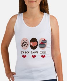 Peace Love Curl Curling Women's Tank Top