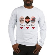 Peace Love Curl Curling Long Sleeve T-Shirt