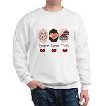 Peace Love Curl Curling Sweatshirt