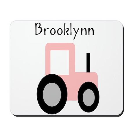Brooklynn - Pink Tractor Mousepad