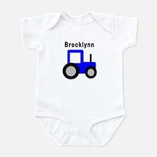 Brooklynn - Blue Tractor Infant Bodysuit