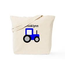 Brooklynn - Blue Tractor Tote Bag