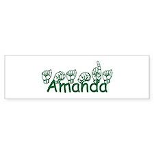 Amanda Bumper Bumper Sticker