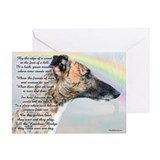 Rainbow bridge greyhound Greeting Cards