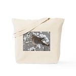 Winter Dove Tote Bag