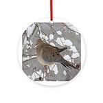 Winter Dove Ornament (Round)