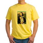 Mona Lisa/Schnauzer (#2) Yellow T-Shirt