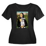 Mona Lisa/Schnauzer (#2) Women's Plus Size Scoop N