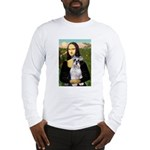Mona Lisa/Schnauzer (#2) Long Sleeve T-Shirt