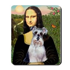 Mona Lisa/Schnauzer (#2) Mousepad