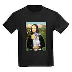 Mona Lisa/Schnauzer (#2) Kids Dark T-Shirt