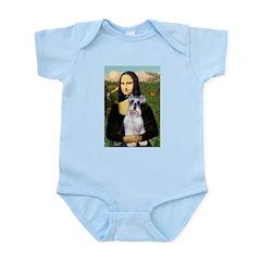 Mona Lisa/Schnauzer (#2) Infant Bodysuit