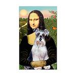Mona Lisa/Schnauzer (#2) Sticker (Rectangle)