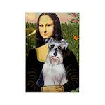 Mona Lisa/Schnauzer (#2) Rectangle Magnet (10 pack