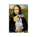 Mona Lisa/Schnauzer (#2) Rectangle Magnet