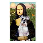 Mona Lisa/Schnauzer (#2) Postcards (Package of 8)