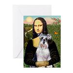 Mona Lisa/Schnauzer (#2) Greeting Cards (Pk of 10)