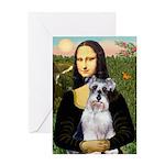 Mona Lisa/Schnauzer (#2) Greeting Card