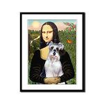Mona Lisa/Schnauzer (#2) Framed Panel Print